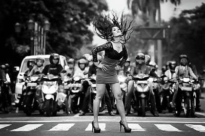 High Heel Photograph - Ignore It, Enjoy Poses On The Streets by Artistname