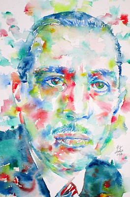 Painting - Igor Stravinsky - Watercolor Portrait by Fabrizio Cassetta