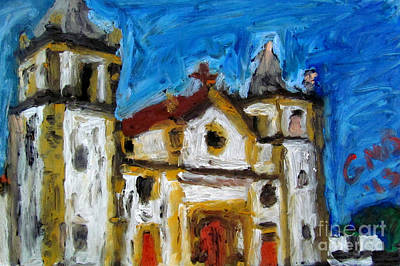 Church Painting - Igreja Da Se De Olinda by Greg Mason Burns