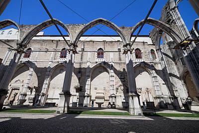 Igreja Do Carmo Church Ruins In Lisbon Art Print by Artur Bogacki