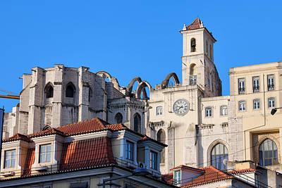 Igreja Do Carmo Ruins In Lisbon Art Print by Artur Bogacki