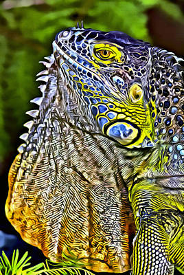 Digital Art - Iguana 1 by Patrick M Lynch