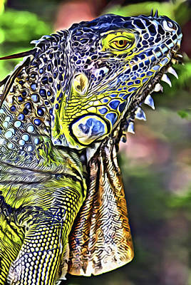 Digital Art - Iguana 2 by Patrick M Lynch