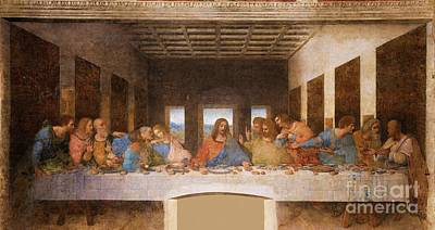 Disciples Painting - II Cenacolo by Pg Reproductions