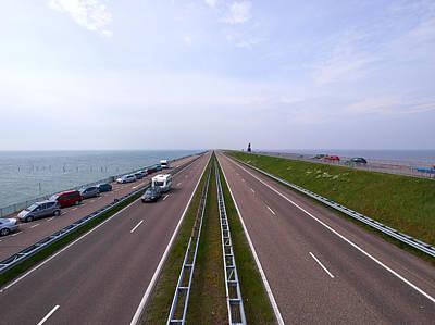 Photograph - Ijsselmeer And Afsluitdijk by Jouko Lehto