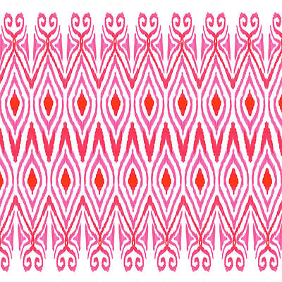 Abstract Digital Painting - Ikat Watermelon by Amy Sia