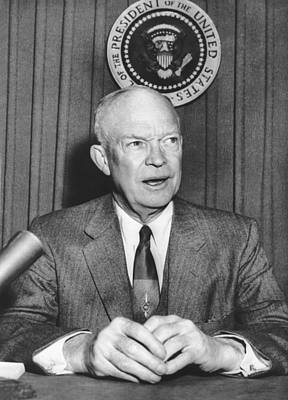 Photograph - Ike Supports Radio Free Europe by Underwood Archives