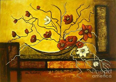 Ikebana II Art Print by Elena  Constantinescu