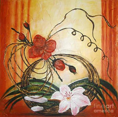 Ikebana IIi Art Print by Elena  Constantinescu