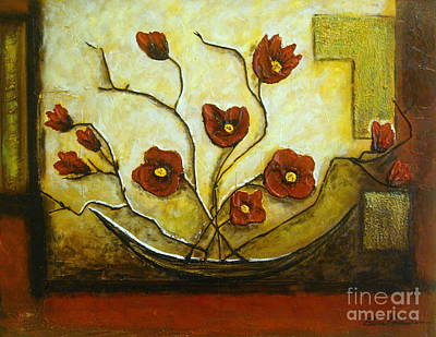 Ikebana Iv Art Print by Elena  Constantinescu