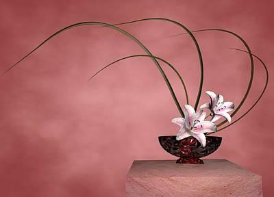 Digital Art - Ikebana by Louis Ferreira