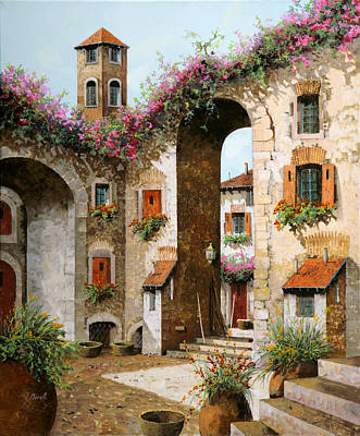 Roof Painting - Il Campanile by Guido Borelli