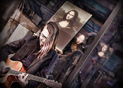 Brown Tones Photograph - Il Chitarrista E La Gioconda by Nikolyn McDonald