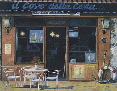 Cafe Wall Art - Painting - Il Covo Della Costa by Guido Borelli