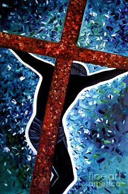 Painting - Il Crocifisso - The Crucifix by Ze  Di