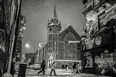 Photograph - Il Etait Une Fois Sur La Rue Ste-catherine by Valerie Rosen