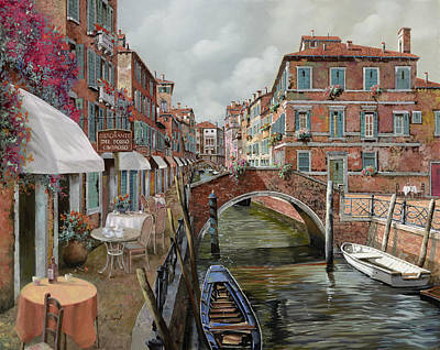 Wine Oil Painting - Il Fosso Ombroso by Guido Borelli