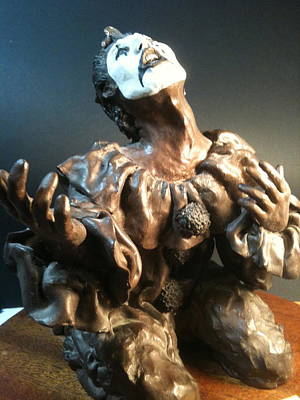 Sculpture - Il Pagliaccio  The Clown by Lane Baxter