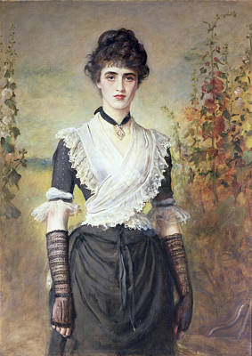 Long Necklace Painting - Il Penseroso  by Sir John Everett Millais