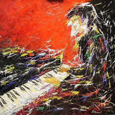 Quadri Painting - Il Pianista by Enrico Nicodemo