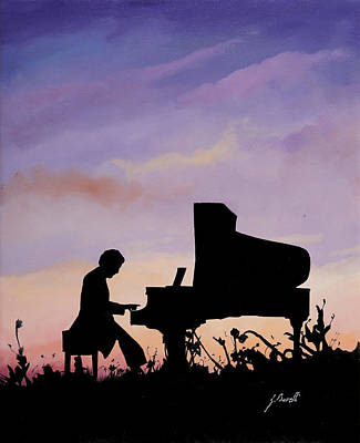 Piano Painting - Il Pianista by Guido Borelli