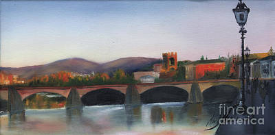 Il Ponte Santa Trinita Art Print by Leah Wiedemer