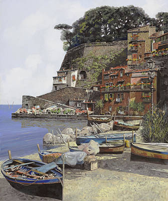il porto di Sorrento Art Print by Guido Borelli