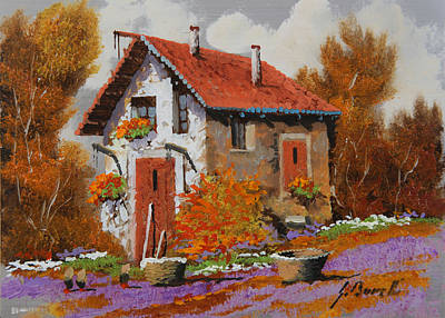 Landscapes Royalty-Free and Rights-Managed Images - Il Prato Viola by Guido Borelli