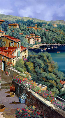Red Roof Painting - Il Promontorio by Guido Borelli