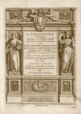 Family Coat Of Arms Photograph - 'il Saggiatore' (1623) by Library Of Congress