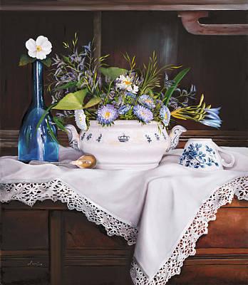 Il Te' Del Pomeriggio Art Print by Danka Weitzen