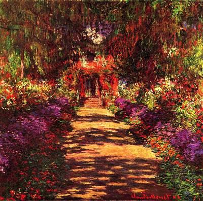 Nature Painting - Il Viale Del Gardino by Claude Monet