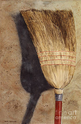 Shed Painting - Ila Jean's Broom by Monte Toon