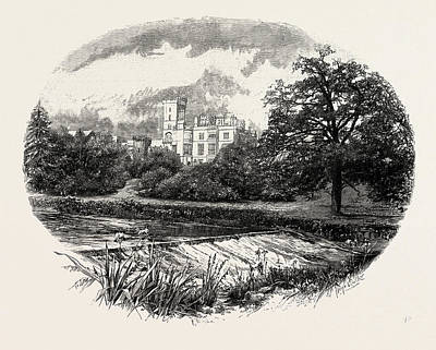Ilam Hall, Uk. The Estate Was Owned From The 16th Century Art Print