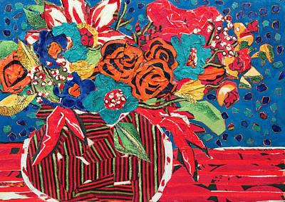 Ilana's Flower Arangement Art Print by Diane Fine