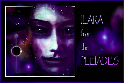 Galactic Painting - Ilara From The Pleiades by Hartmut Jager