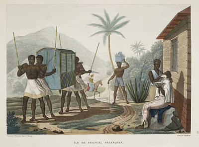 Slaves Photograph - Ile De France Palanquin by British Library