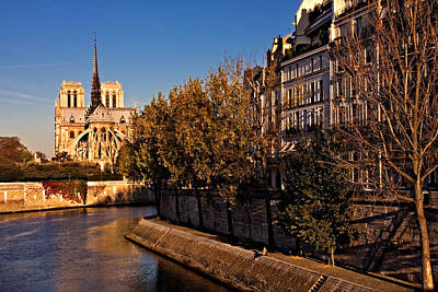 Photograph - Ile Saint Louis And Notre Dame Cathedral / Paris by Barry O Carroll