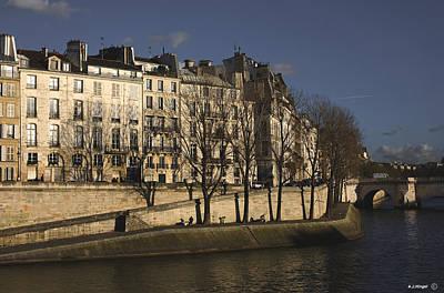 Ile St Louis Photograph - Ile Saint-louis Paris 2 by Anders Hingel