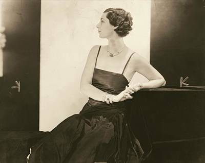 Diamond Bracelet Photograph - Ilka Chase In A Taffeta Dress by Edward Steichen