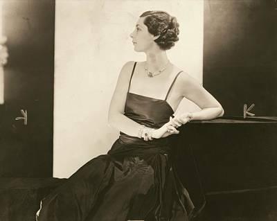 Studio Art Jewelry Photograph - Ilka Chase In A Taffeta Dress by Edward Steichen