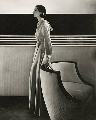Moire Photograph - Ilka Chase Wearing Black Starr And Frost-gorham by Edward Steichen