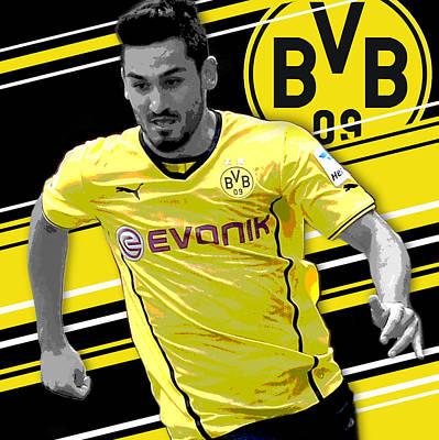 Iphone 5s Photograph - Ilkay Gundogan Borussia Dortmund Print by Pro Prints