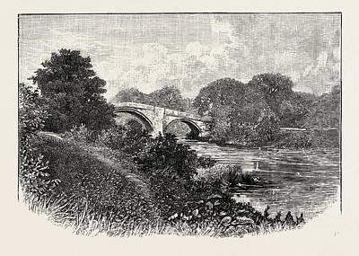 Parish Drawing - Ilkley Bridge, Uk. Ilkley Is A Spa Town And Civil Parish by English School