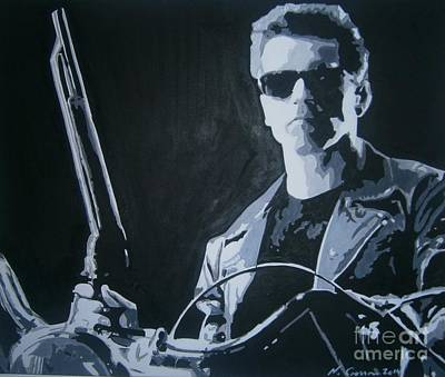 Arnold Schwarzenegger Painting - I'll Be Back by Neal Crossan