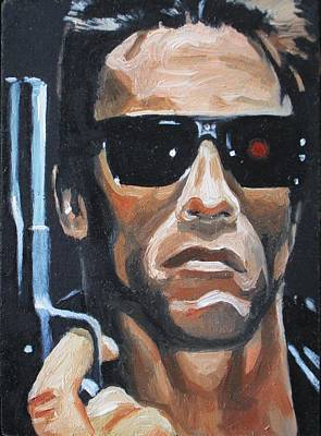 The Terminator Painting - I'll Be Back by Patrick Killian