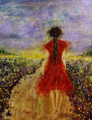 Art Print featuring the painting I'll Be There... by Cristina Mihailescu
