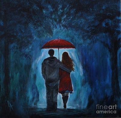 Painting - I'll Love You Always by Leslie Allen