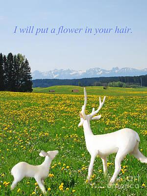 I'll Put A Flower Art Print