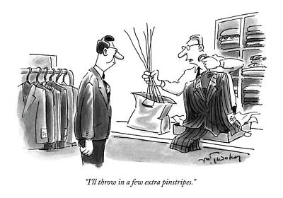 Pinstripe Drawing - I'll Throw In A Few Extra Pinstripes by Mike Twohy